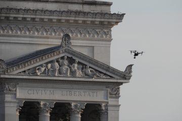 Drone sul Vittoriano